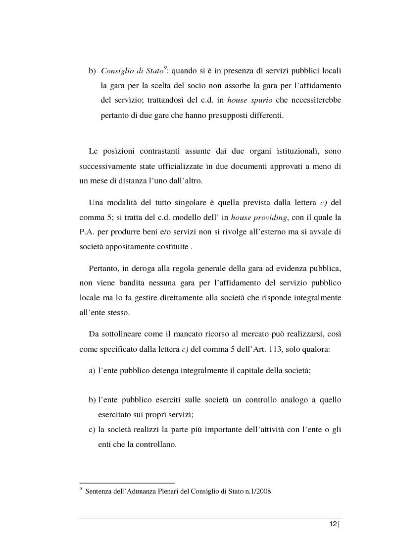 Anteprima della tesi: La regolamentazione dei servizi pubblici locali: il servizio di gestione dei rifiuti nella Regione Sicilia. L'analisi contabile di una società d'ambito., Pagina 8