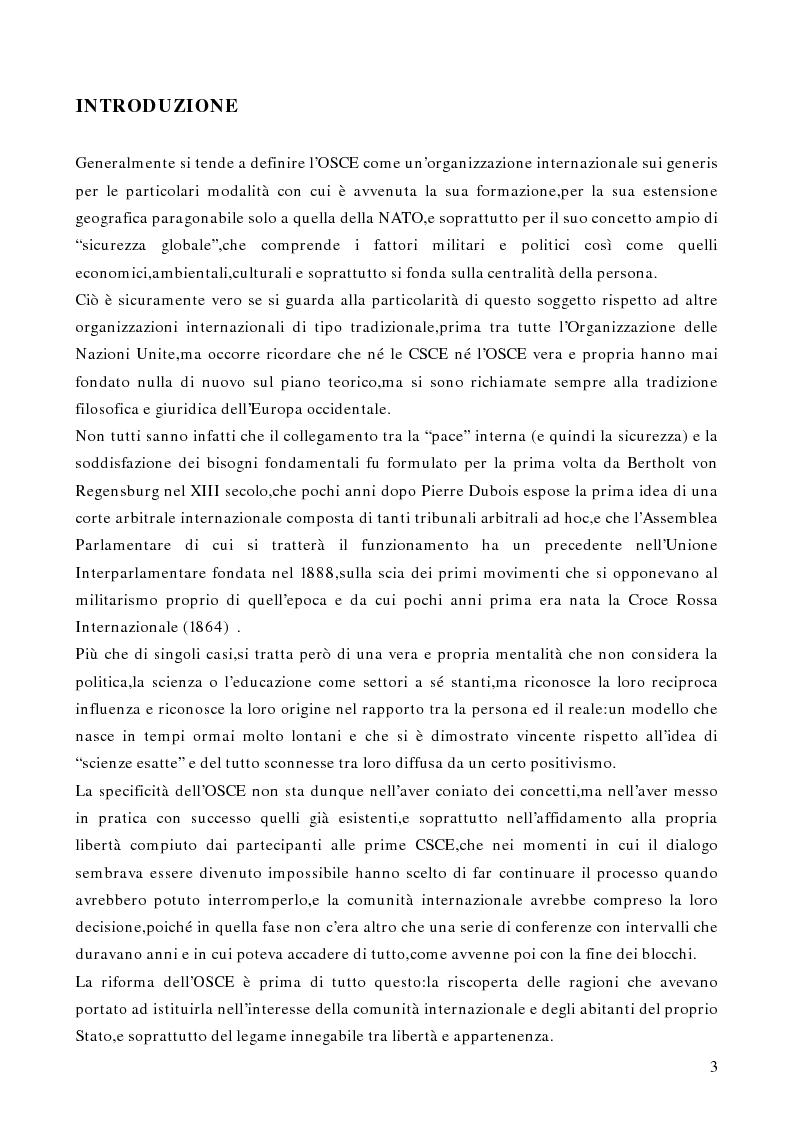 Anteprima della tesi: Gli aspetti istituzionali della riforma dell'OSCE, Pagina 1