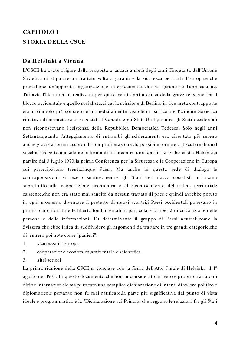 Anteprima della tesi: Gli aspetti istituzionali della riforma dell'OSCE, Pagina 2