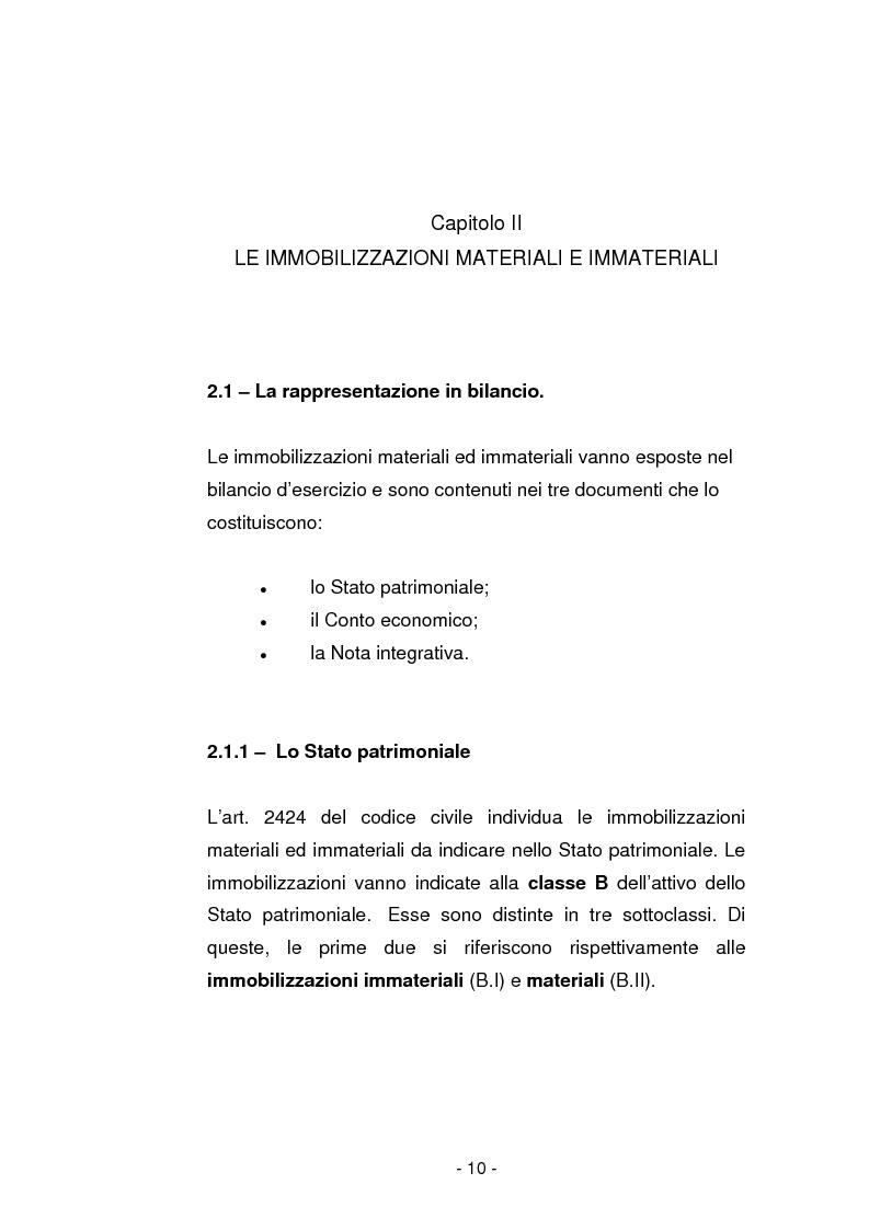Anteprima della tesi: Gli ammortamenti fiscali, Pagina 7