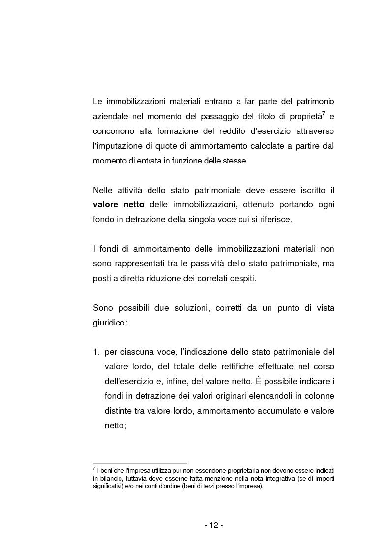 Anteprima della tesi: Gli ammortamenti fiscali, Pagina 9