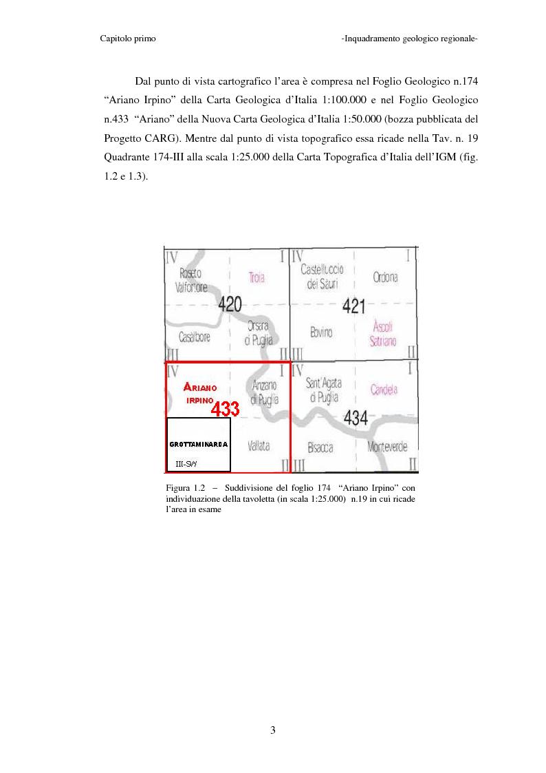 Anteprima della tesi: Studi geologici per la microzonazione sismica del comune di Grottaminarda (AV), Pagina 3