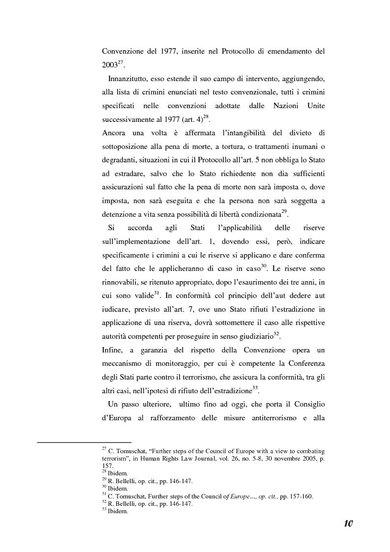 Anteprima della tesi: Terrorismo e stranieri: il giusto equilibrio tra libertà e sicurezza nella giurisprudenza della Corte Europea dei diritti dell'uomo, Pagina 10