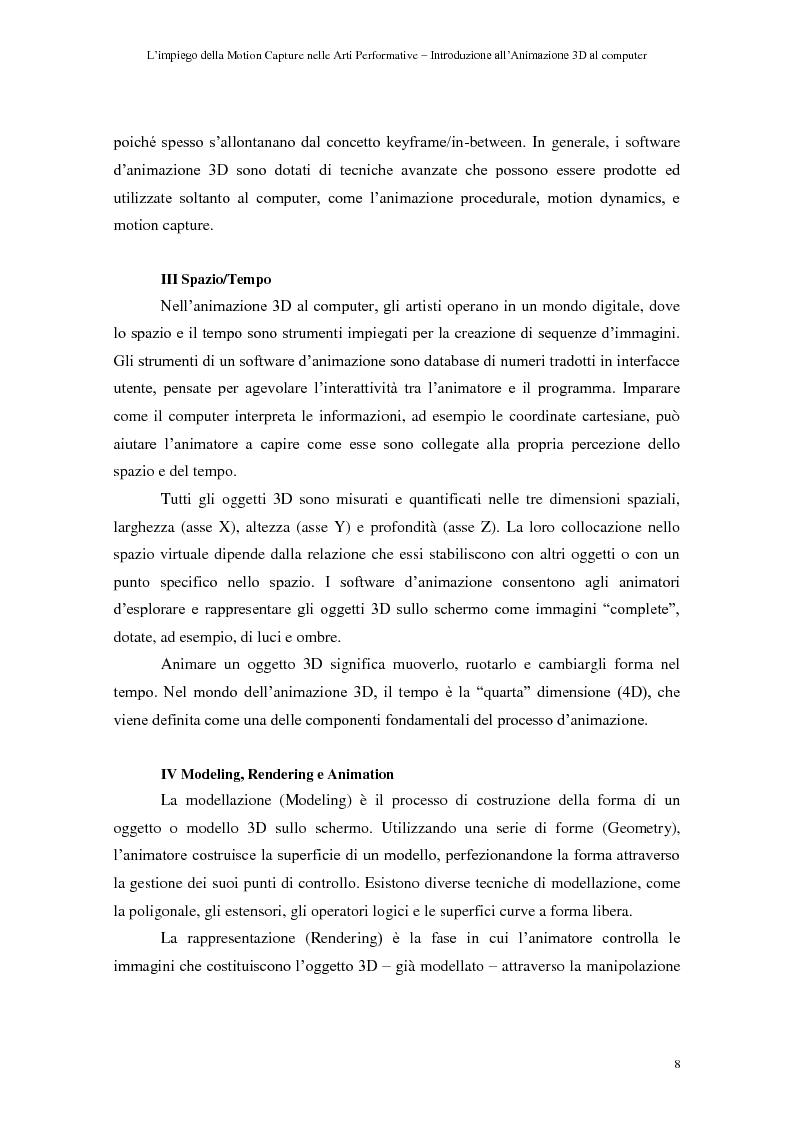 Anteprima della tesi: L'impiego della motion capture nelle arti performative - Introduzione all'animazione 3D al computer, Pagina 4