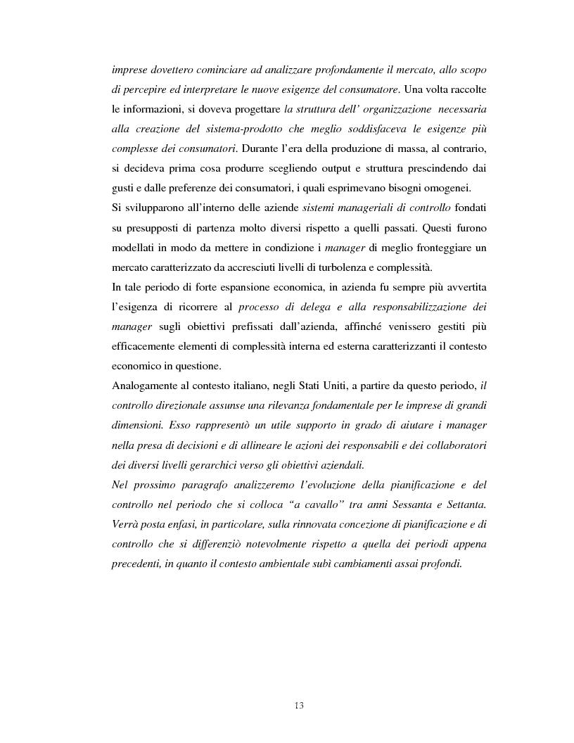 Anteprima della tesi: Il percorso evolutivo della pianificazione e del controllo: verso un sistema unico, Pagina 12