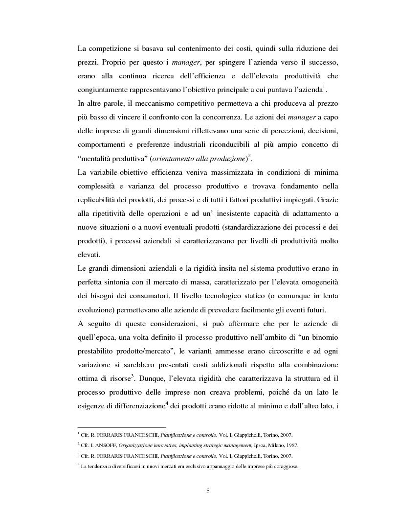 Anteprima della tesi: Il percorso evolutivo della pianificazione e del controllo: verso un sistema unico, Pagina 4