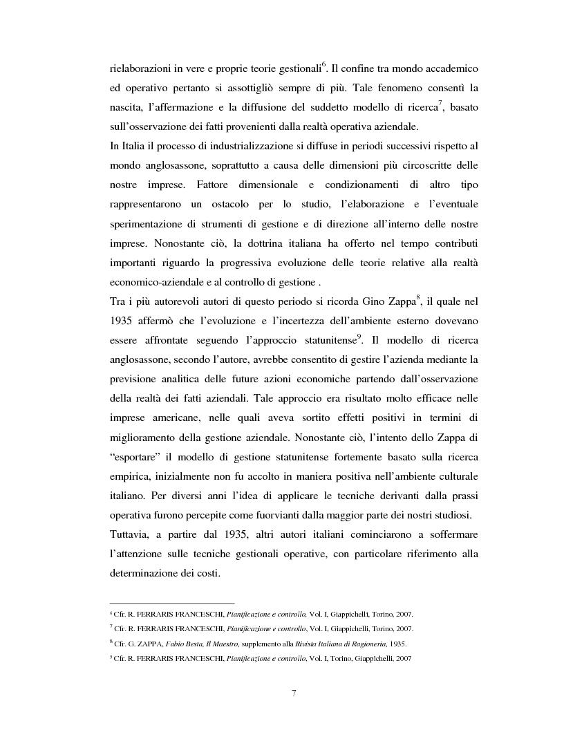 Anteprima della tesi: Il percorso evolutivo della pianificazione e del controllo: verso un sistema unico, Pagina 6