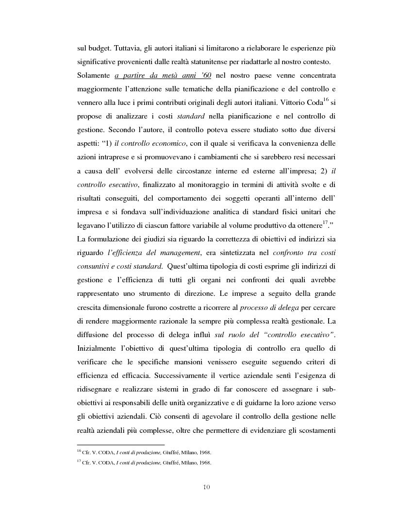 Anteprima della tesi: Il percorso evolutivo della pianificazione e del controllo: verso un sistema unico, Pagina 9