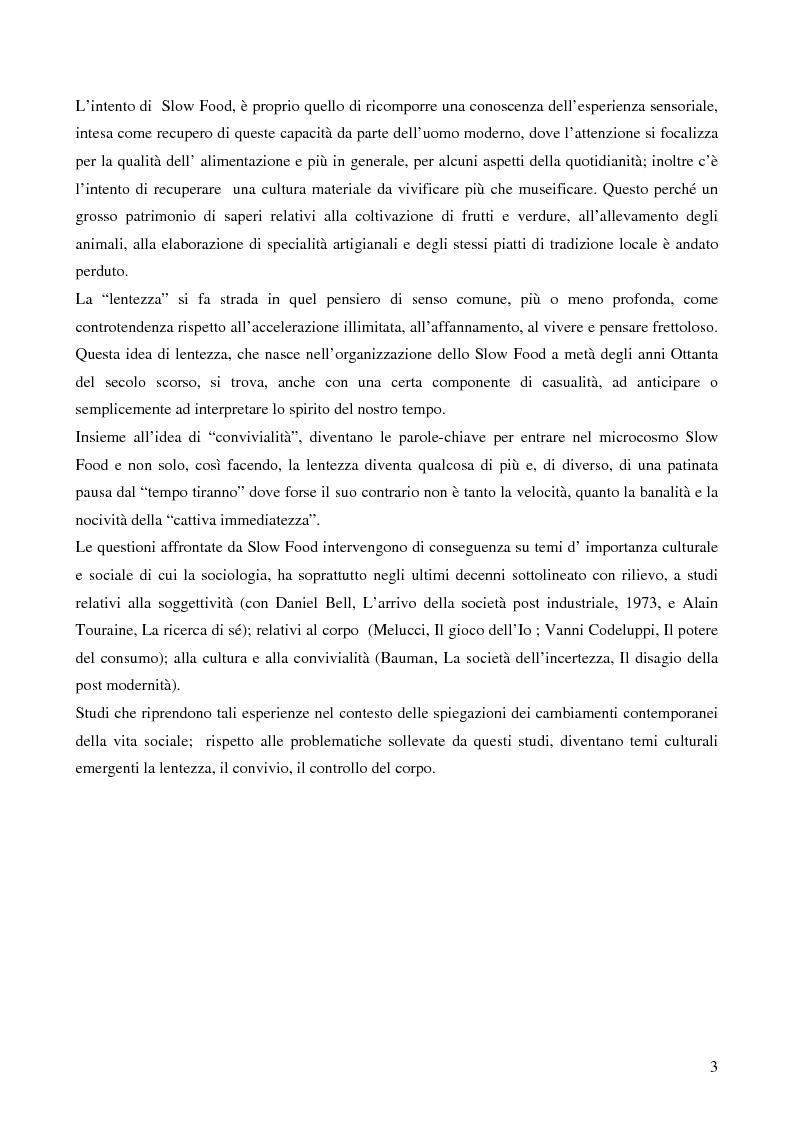 Anteprima della tesi: Il controllo del corpo e il tempo del nutrirsi: l'esperienza Slow Food, Pagina 7