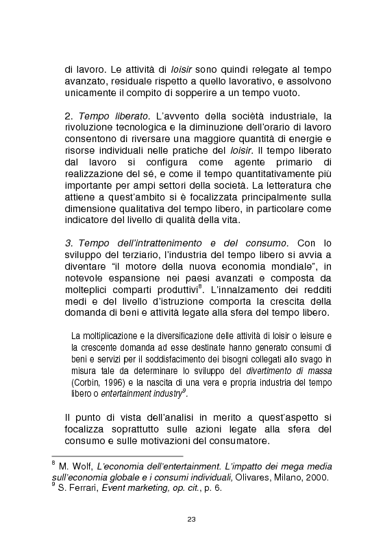 Anteprima della tesi: Officine culturali - La promozione degli eventi di spettacolo: contesti, strategie, strumenti, Pagina 13