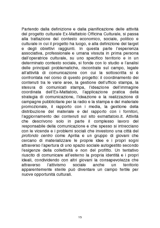 Anteprima della tesi: Officine culturali - La promozione degli eventi di spettacolo: contesti, strategie, strumenti, Pagina 5