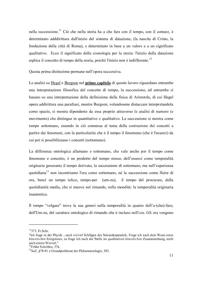 Anteprima della tesi: Concetto e fenomeno di tempo, Pagina 5