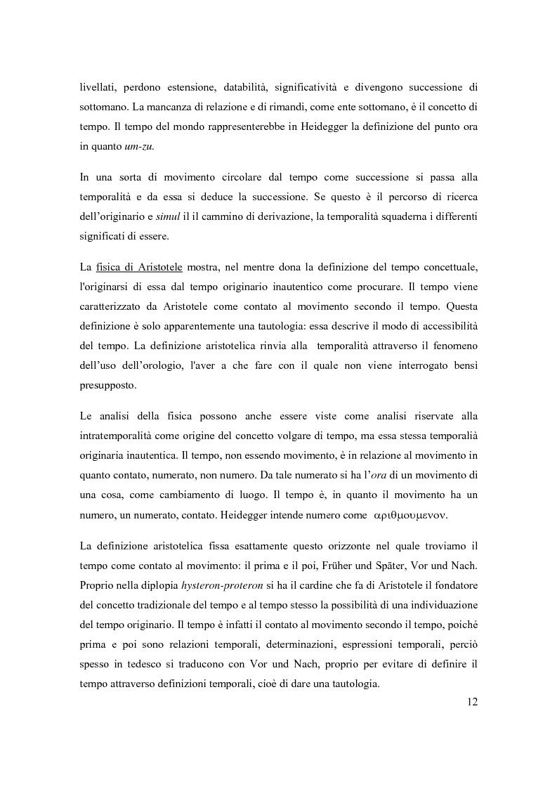 Anteprima della tesi: Concetto e fenomeno di tempo, Pagina 6