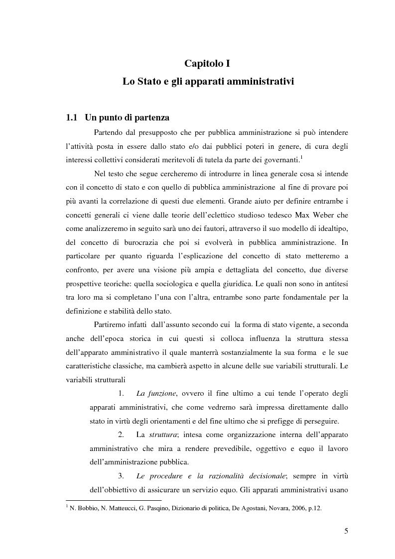 Anteprima della tesi: Rapporto tra Stato e Pubblica Amministrazione, Pagina 3