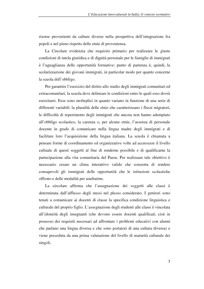 Anteprima della tesi: Didattica delle lingue moderne - L'apprendimento dell'italiano lingua seconda: un'esperienza di laboratorio didattico, Pagina 3