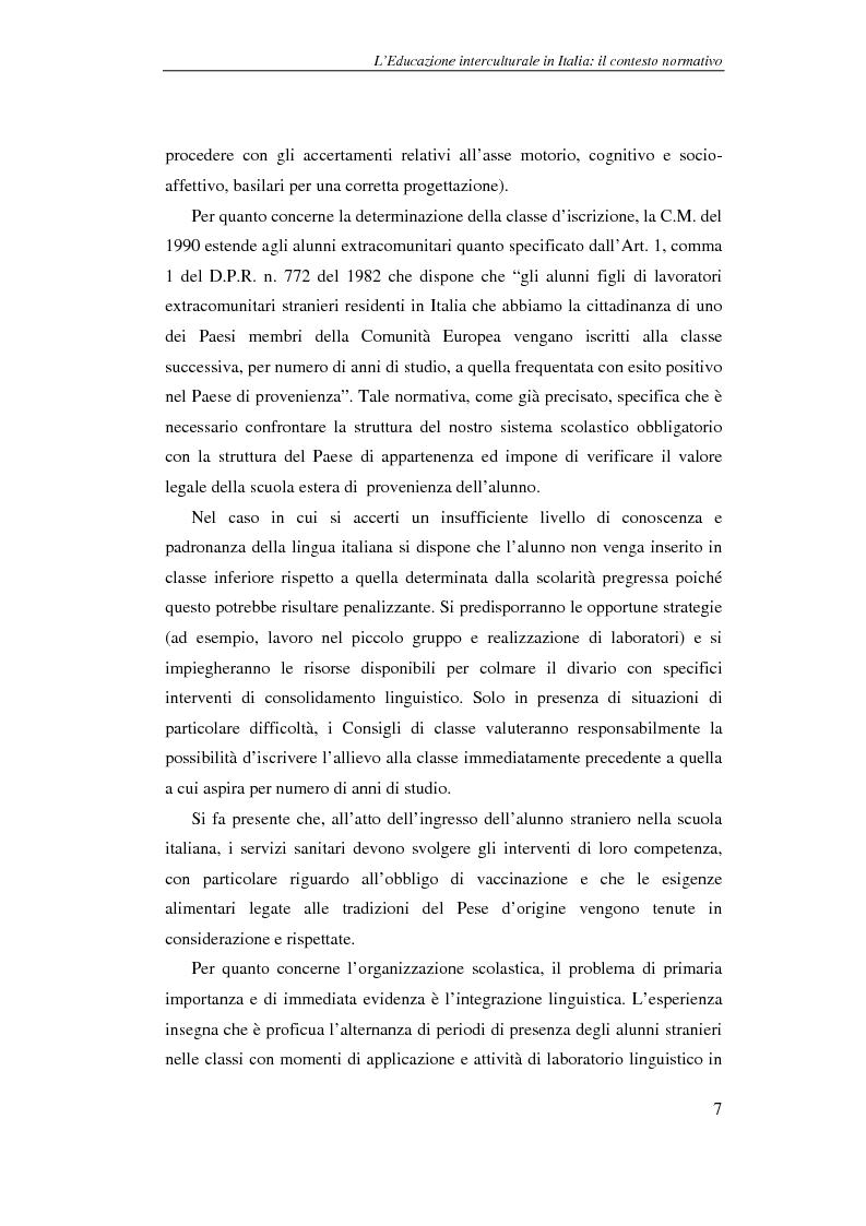 Anteprima della tesi: Didattica delle lingue moderne - L'apprendimento dell'italiano lingua seconda: un'esperienza di laboratorio didattico, Pagina 7