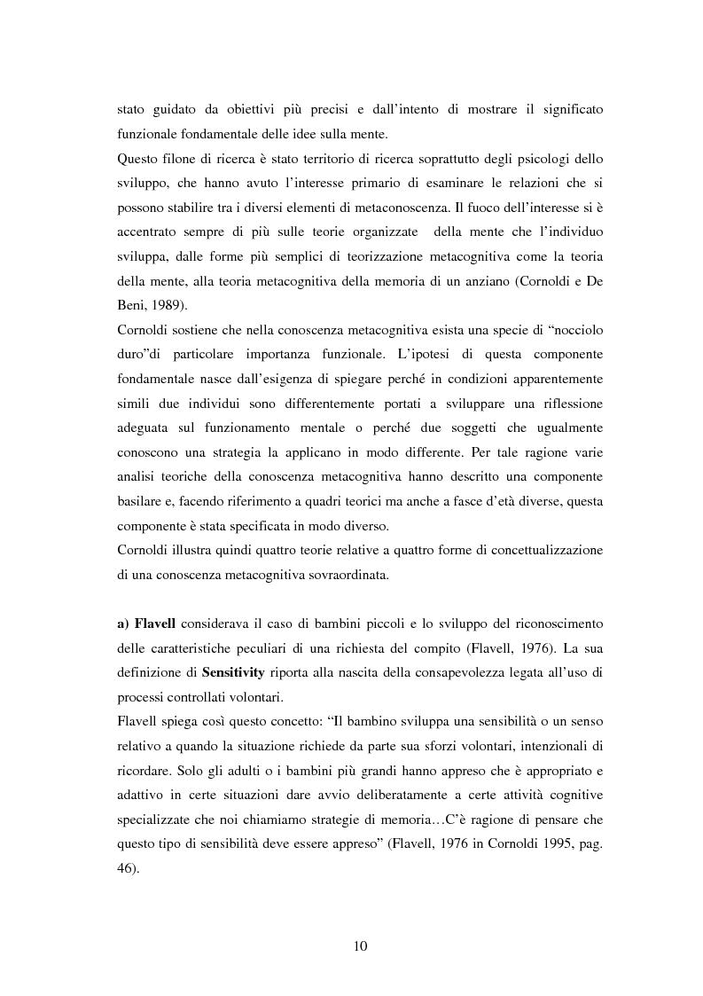 Anteprima della tesi: Approccio e metodi di studio nella transizione all'Università: una ricerca su un gruppo di studenti frequentanti il primo anno di Psicologia a Torino, Pagina 8