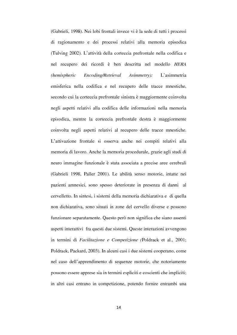 Anteprima della tesi: Memoria autobiografica e adolescenza: l'overgenerality, Pagina 10