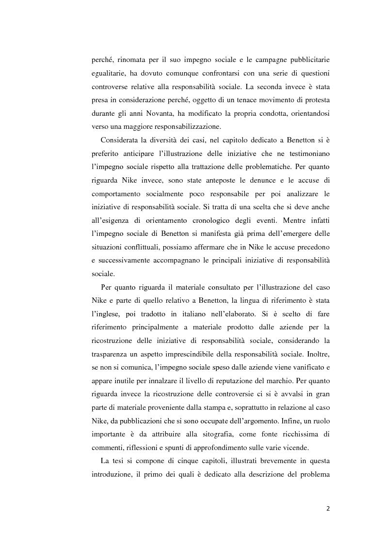 Anteprima della tesi: La gestione della crisi nella responsabilità sociale d'impresa. Due casi a confronto, Pagina 2
