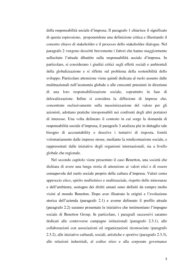 Anteprima della tesi: La gestione della crisi nella responsabilità sociale d'impresa. Due casi a confronto, Pagina 3
