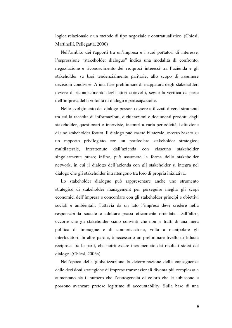 Anteprima della tesi: La gestione della crisi nella responsabilità sociale d'impresa. Due casi a confronto, Pagina 9