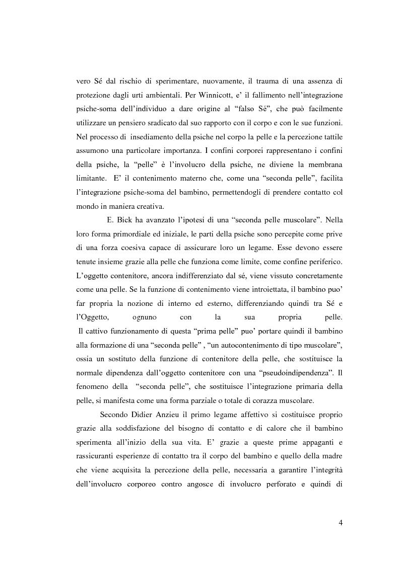 Anteprima della tesi: La corazza caratteriale/muscolare in Wilhelm Reich: le ragioni del corpo, Pagina 5