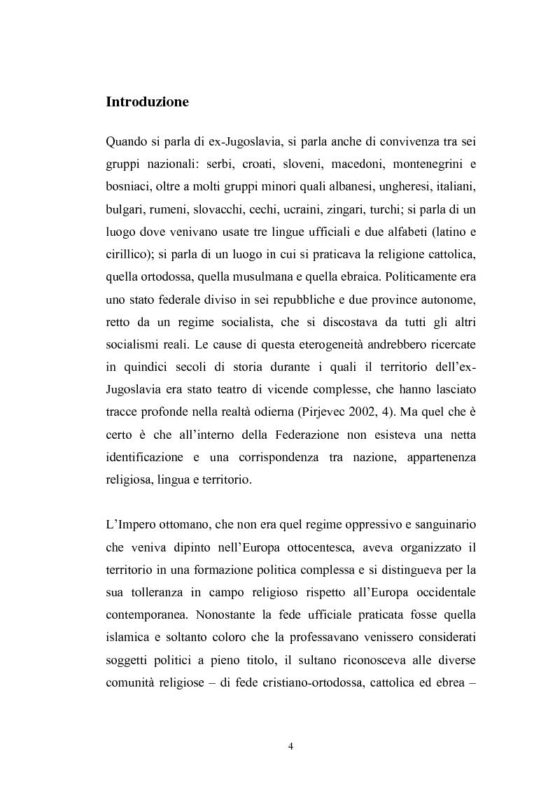 Anteprima della tesi: Dopo la violenza. Le forme di giustizia per la ricomposizione sociale. Il caso di Srebrenica, Pagina 1