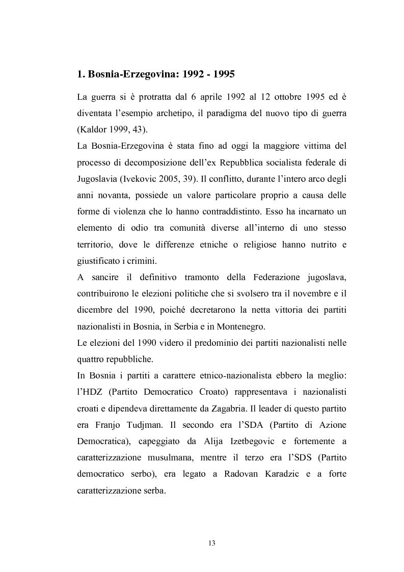 Anteprima della tesi: Dopo la violenza. Le forme di giustizia per la ricomposizione sociale. Il caso di Srebrenica, Pagina 10