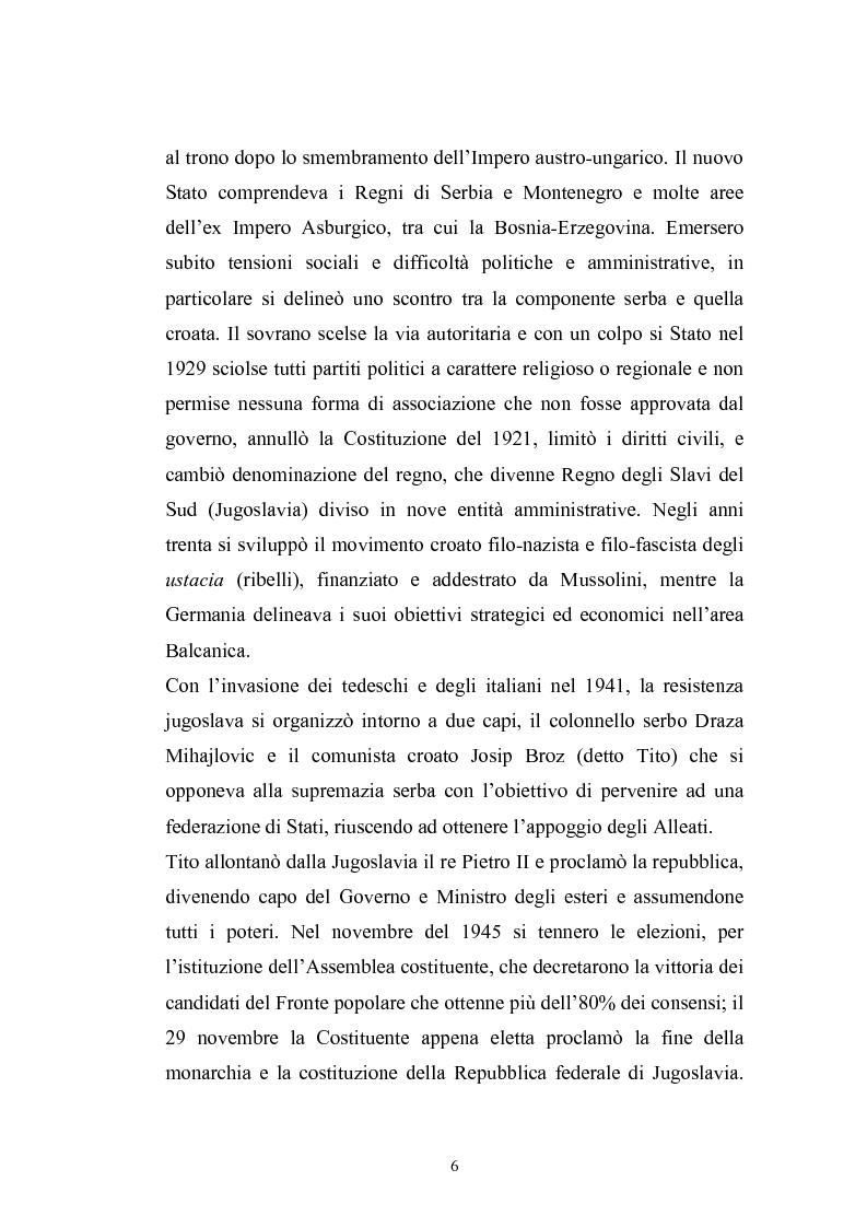 Anteprima della tesi: Dopo la violenza. Le forme di giustizia per la ricomposizione sociale. Il caso di Srebrenica, Pagina 3