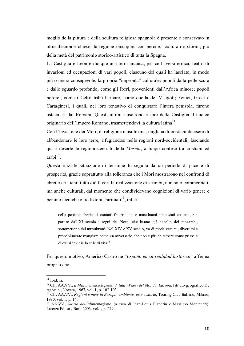 Anteprima della tesi: Viaggio attraverso la Castiglia e León, Salamanca e Valladolid. Proposta di un itinerario eno-gastronomico., Pagina 10