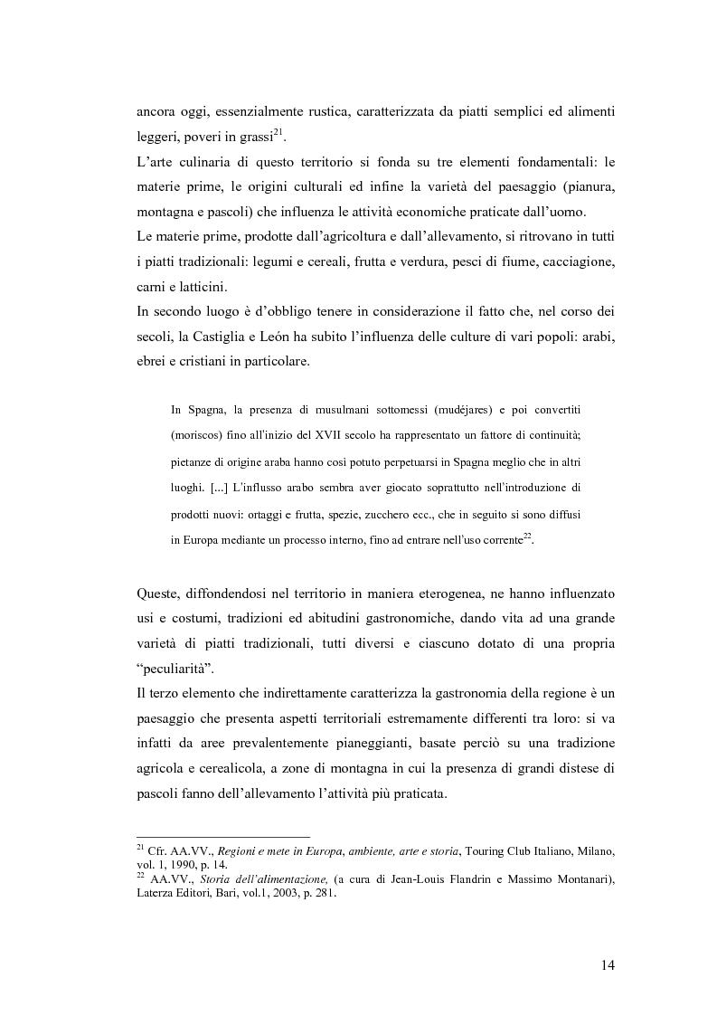 Anteprima della tesi: Viaggio attraverso la Castiglia e León, Salamanca e Valladolid. Proposta di un itinerario eno-gastronomico., Pagina 14