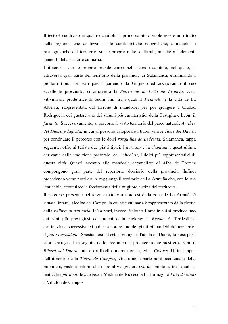 Anteprima della tesi: Viaggio attraverso la Castiglia e León, Salamanca e Valladolid. Proposta di un itinerario eno-gastronomico., Pagina 2