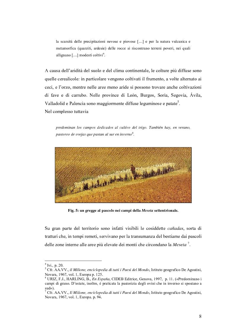 Anteprima della tesi: Viaggio attraverso la Castiglia e León, Salamanca e Valladolid. Proposta di un itinerario eno-gastronomico., Pagina 8