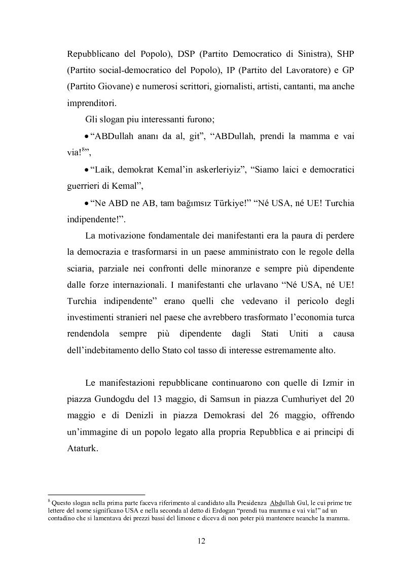 Anteprima della tesi: Un paese fra l'islam e occidente: la politica turca alla prova delle elezioni del 2007, Pagina 10