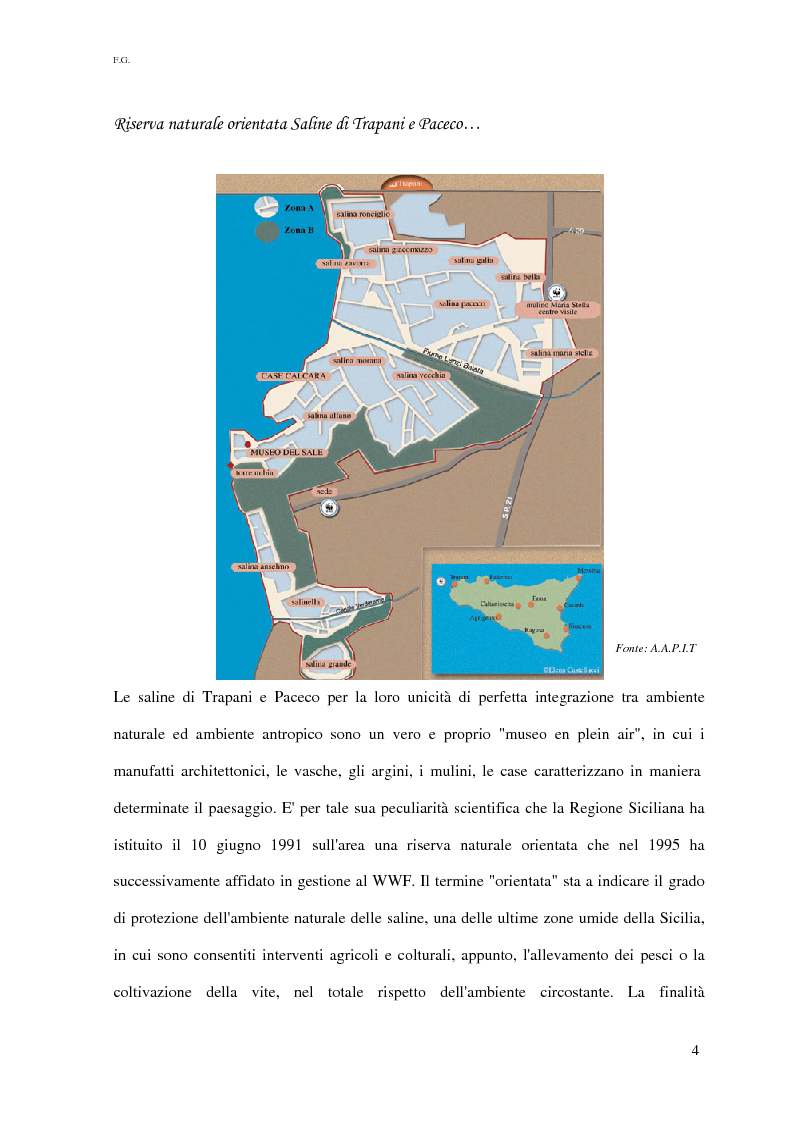 Anteprima della tesi: Linee guida per la valorizzazione turistica del territorio costiero compreso tra Trapani e Marsala, Pagina 4