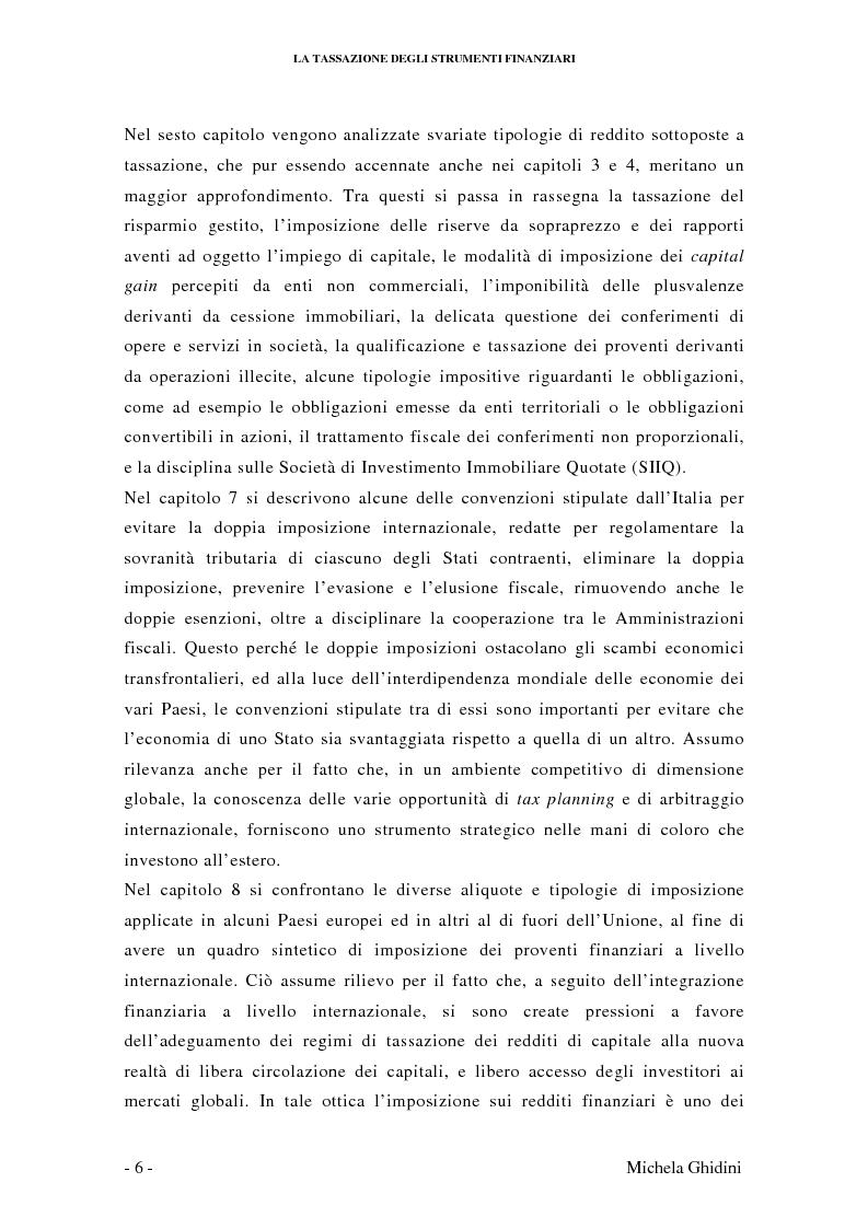 Anteprima della tesi: La tassazione degli strumenti finanziari, Pagina 5