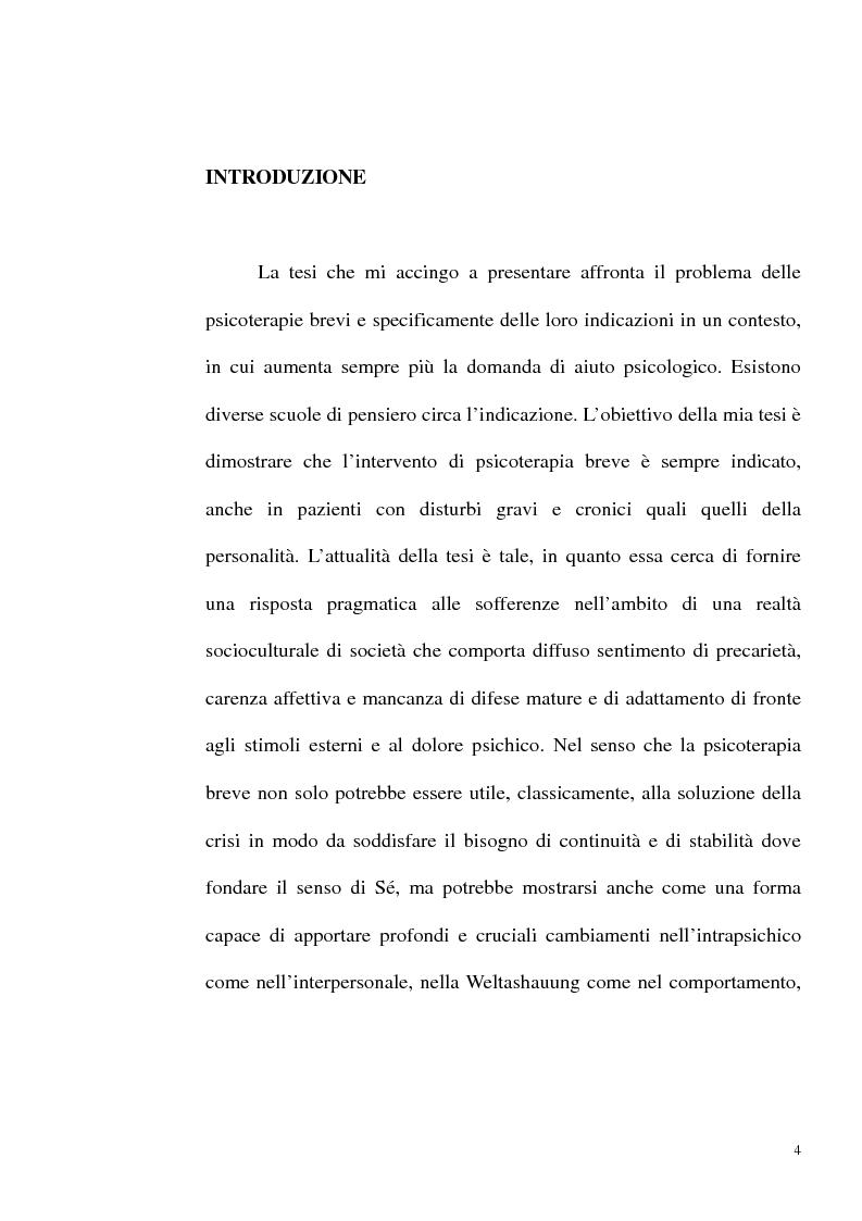 Anteprima della tesi: Indicazioni alle psicoterapie brevi, Pagina 1