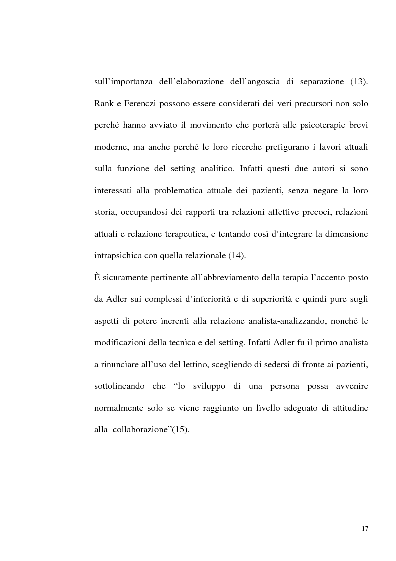 Anteprima della tesi: Indicazioni alle psicoterapie brevi, Pagina 14
