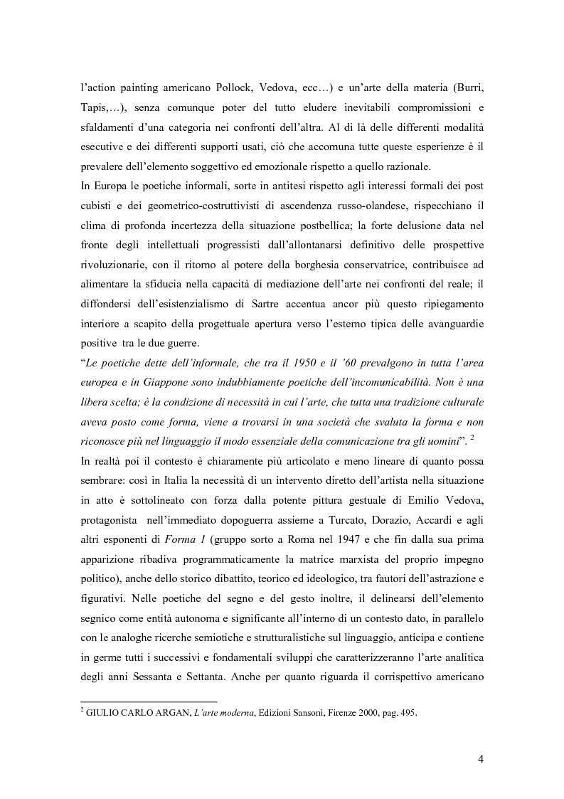 Anteprima della tesi: Azzeramento e neoconcretismo: Francesco Lo Savio, Pagina 2