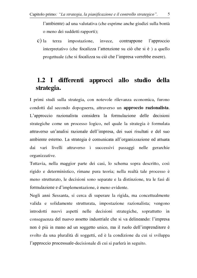 Anteprima della tesi: Controllo strategico. Ruolo e strumenti, Pagina 10