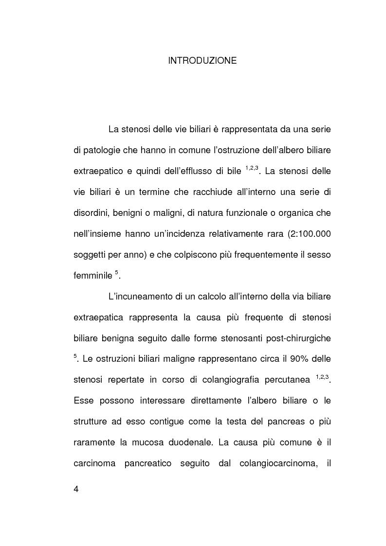 Ruolo della citologia nella diagnosi di stenosi delle vie biliari - Tesi di Laurea