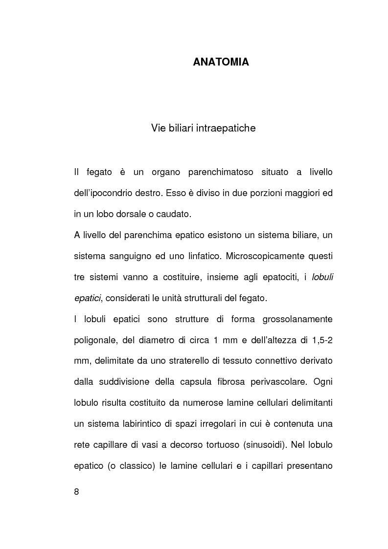 Anteprima della tesi: Ruolo della citologia nella diagnosi di stenosi delle vie biliari, Pagina 5