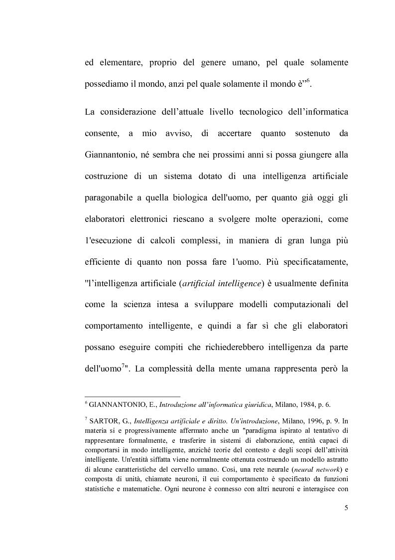 Anteprima della tesi: Informatica giuridica e diritto costituzionale, Pagina 5