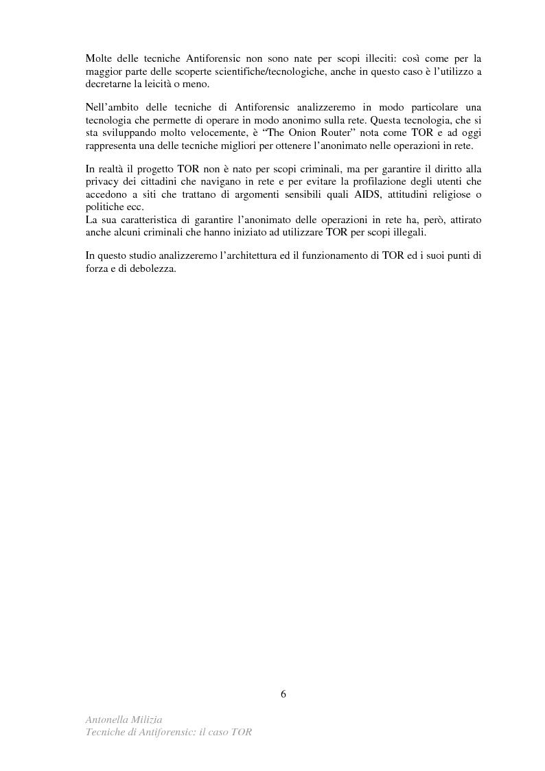 Anteprima della tesi: Tecniche di Antiforensic: il caso TOR, Pagina 3