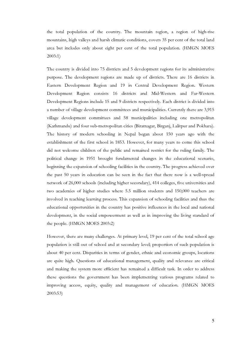 Anteprima della tesi: A Study of Socio-Economic Status of Out of School Youth and Adolescents of Kailali District, Nepal (Joshipur, Thapapur, Kotatulsipur, Geta VDCs & Dhangadhi Municipality), Pagina 7