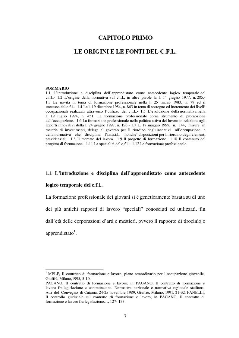 Anteprima della tesi: Agevolazioni contributive e principi comunitari: il caso del contratto di formazione e lavoro, Pagina 7