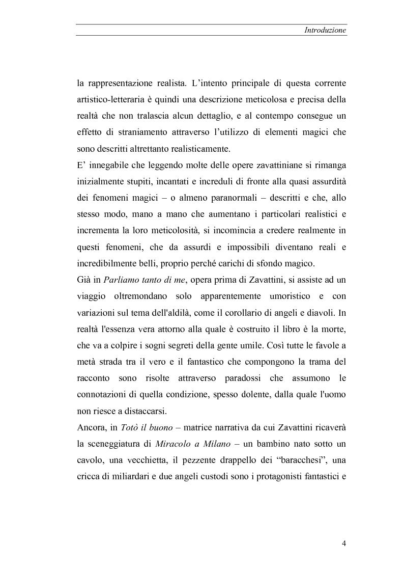 Anteprima della tesi: Il realismo magico in Cesare Zavattini, Pagina 4