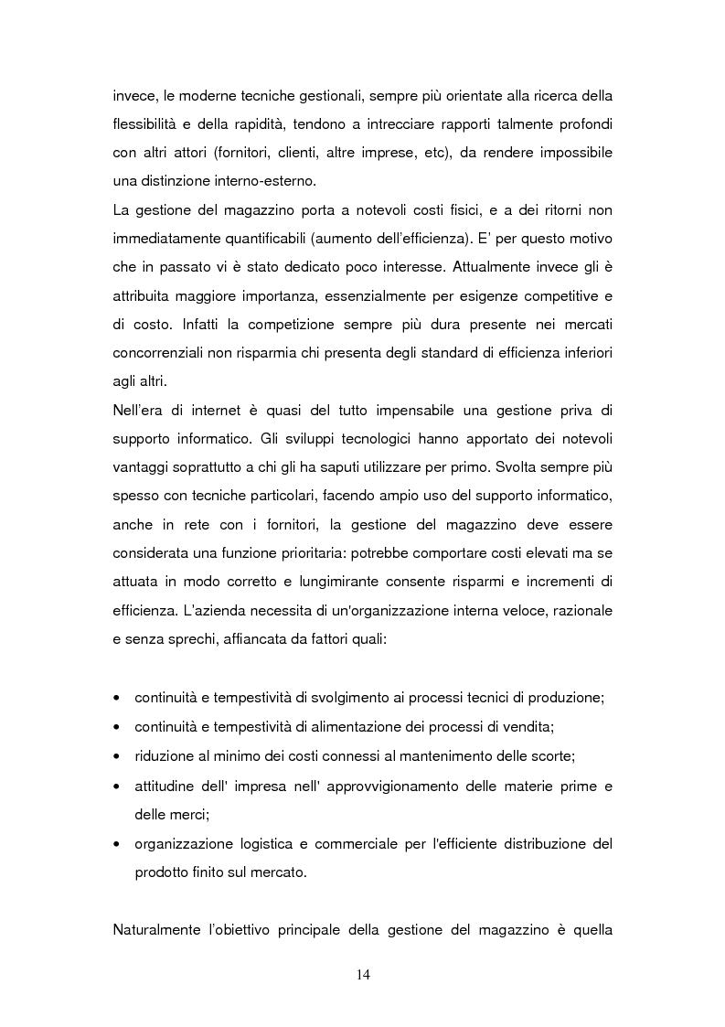 Anteprima della tesi: L'Information Technology a supporto dei processi di magazzino, Pagina 10