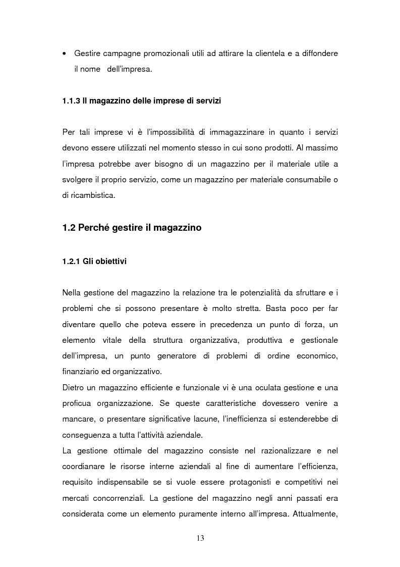 Anteprima della tesi: L'Information Technology a supporto dei processi di magazzino, Pagina 9