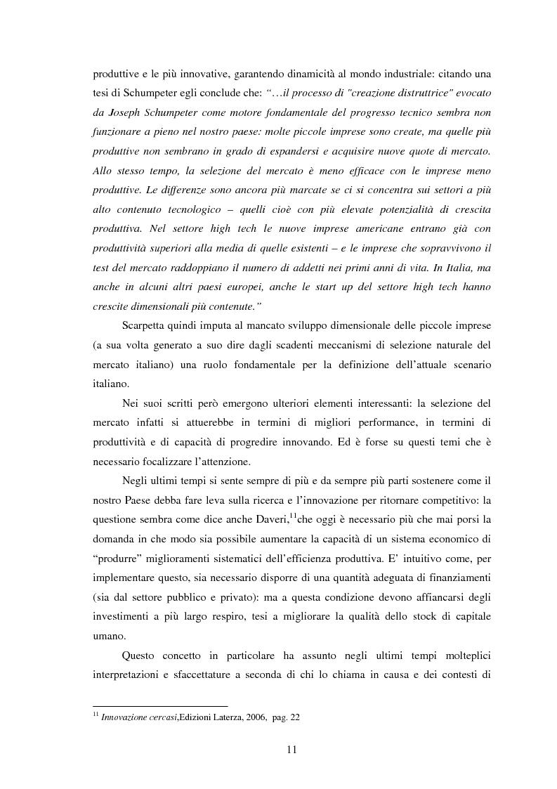 Anteprima della tesi: La perdita di competitività del sistema Italia - Dinamiche della formazione e dell'utilizzo del capitale umano, Pagina 7